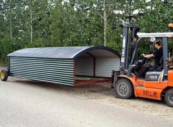 Geflügelhütte-Transport